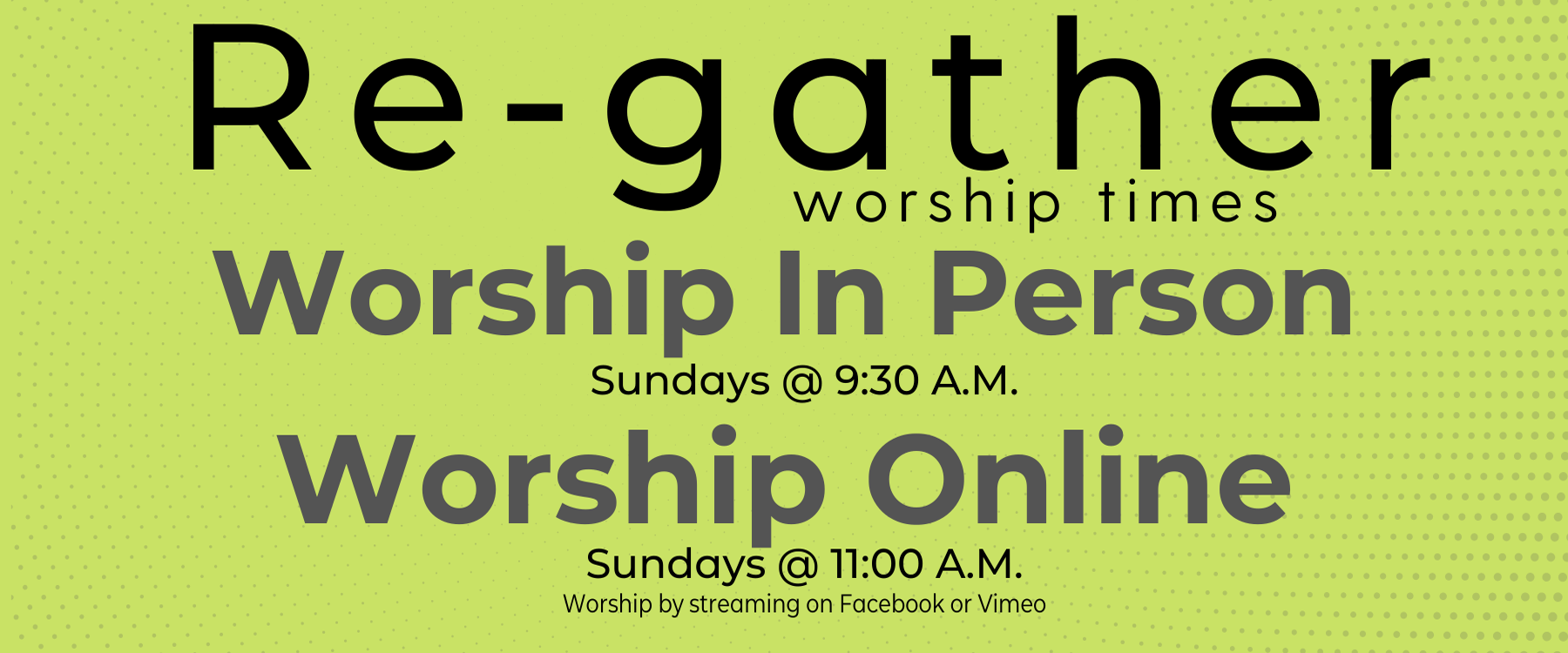 Regather worship times - Website 2